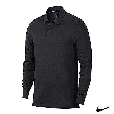 NikeGolf男運動長袖polo 黑 890711-010