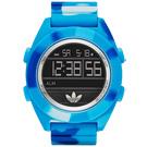 adidas愛迪達時尚潮流電子運動手錶-迷彩藍/48mm