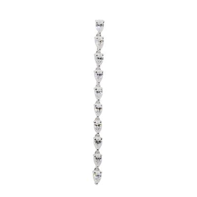 apm MONACO法國精品珠寶 閃耀銀色鑲鋯單邊耳針式長耳環