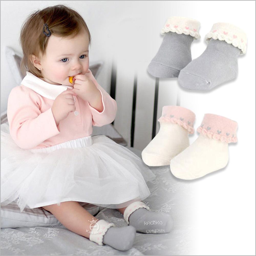 愛心反摺防滑短筒襪