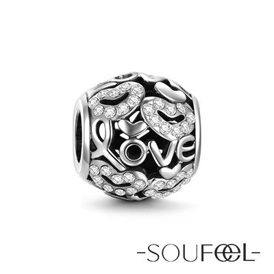 SOUFEEL索菲爾 925純銀珠飾 愛情 串珠