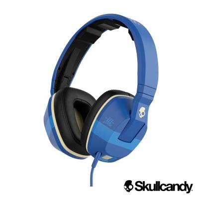 美國Skullcandy 潮牌Crusher跨許 大耳罩式震動耳機-寶藍色(公司貨)