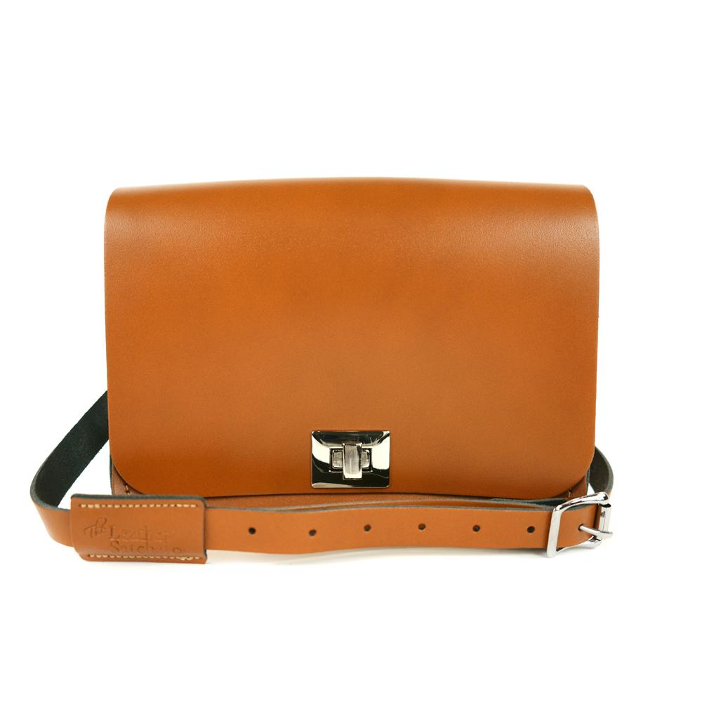 The Leather Satchel 英國手工牛皮精靈包 手拿 肩背包 倫敦棕