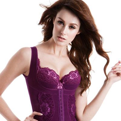 LADY 花沁系列 機能防駝塑身衣 (紫色)