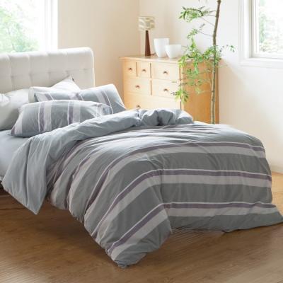 HOYACASA休閒生活 特大水洗棉四件式被套床包組