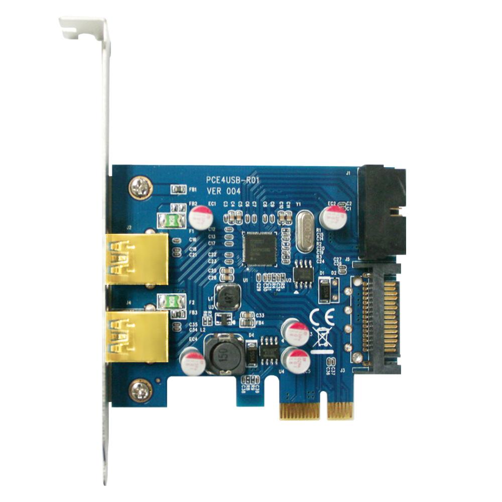 伽利略 PCI-E USB3.0 4 Port 擴充卡(前2-19in+後2)