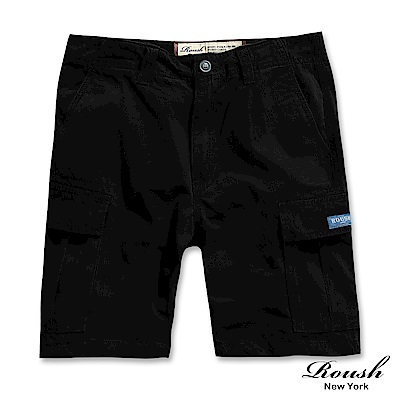 ROUSH 菱格車法高磅數多口袋水洗短褲 (3色)