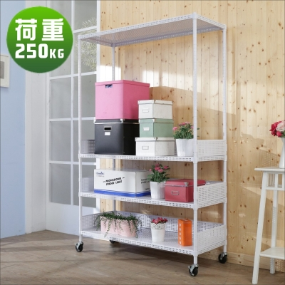 BuyJM洞洞板90x45x190cm耐重四層附輪置物架+3組圍欄-DIY