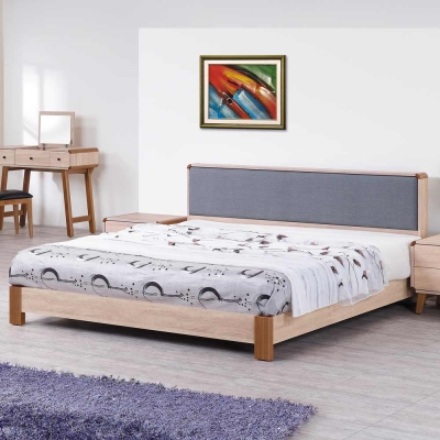 H-D-柏克系列5尺床組-床頭片-床架