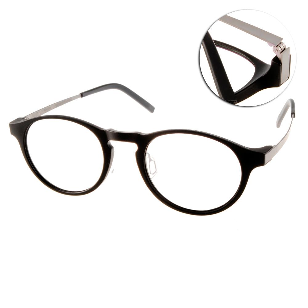 JULIO眼鏡 完美工藝/霧黑-銀#SHANGHAI MATTBLK