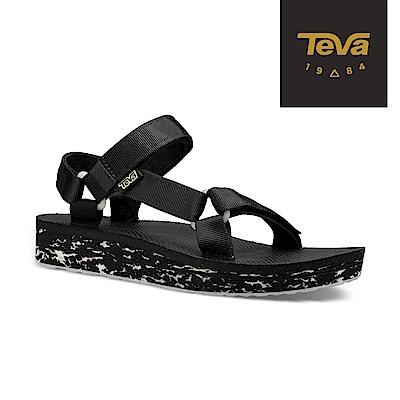 TEVA 美國 女 Original Midform 經典織帶中厚底涼鞋 夜光黑