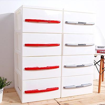 HOUSE 台灣製 德式簡約四層櫃-無輪-DIY簡易組裝