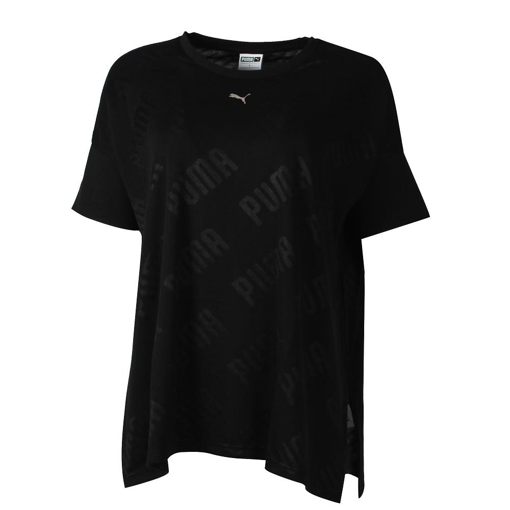 PUMA-女性流行系列芭蕾風短版短袖T恤-黑色-亞規