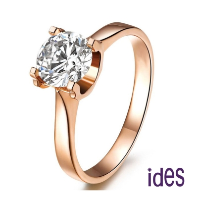 ides愛蒂思 極致璀璨 1 克拉八心八箭完美車工鑽石戒指/求婚戒