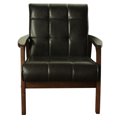H&D 慕可舒適單人皮沙發
