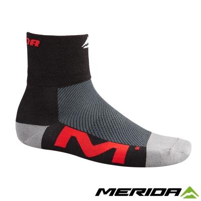 《MERIDA》美利達自行車Coolmax襪子-黑/紅