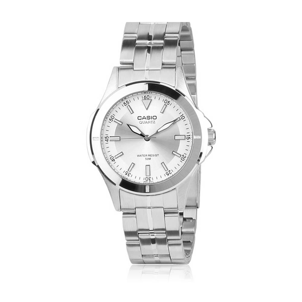 CASIO 都會城市新風格指針錶(MTP-1214A-7A)-銀白/39.5mm