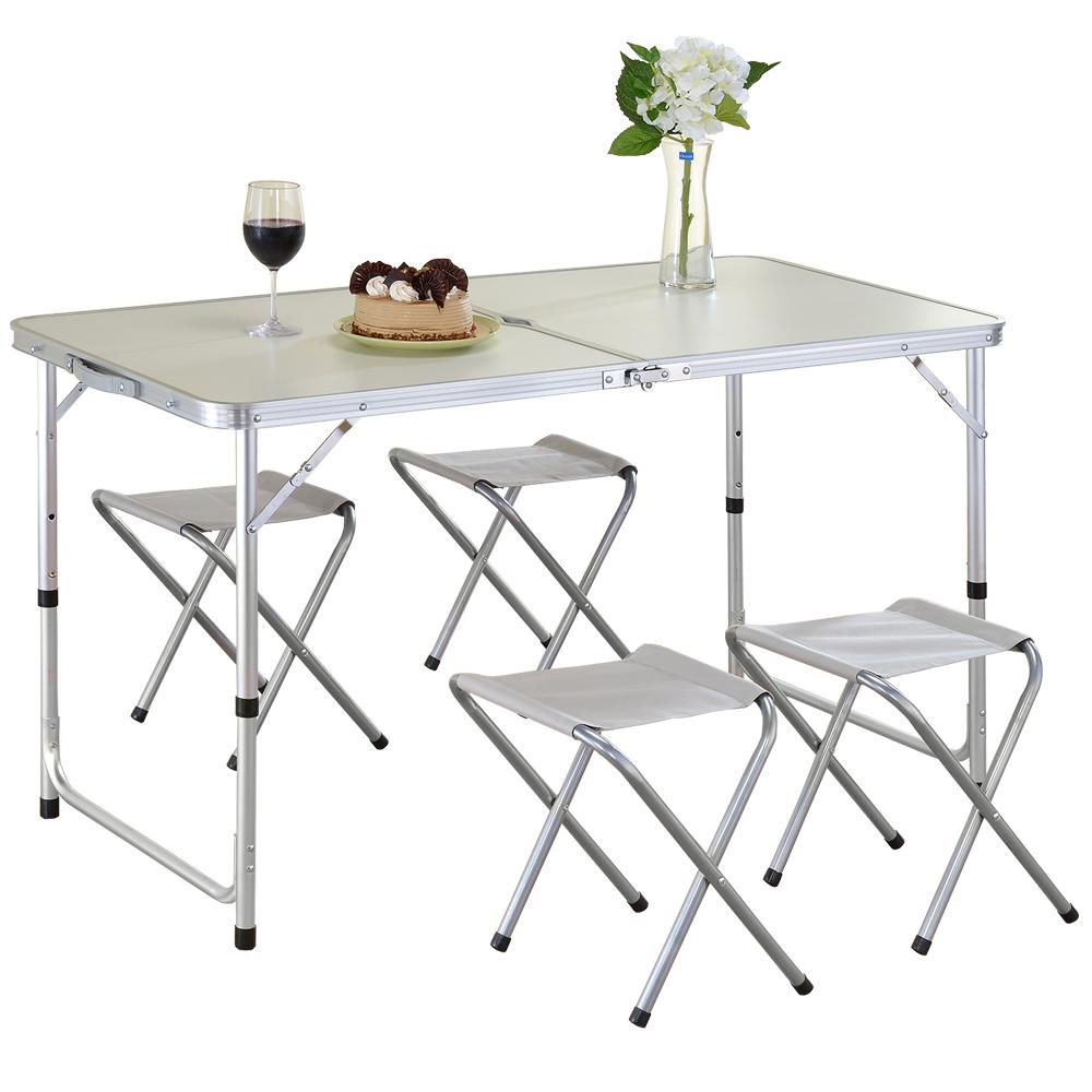 家可 高級鋁合金一桌四椅露營桌 (加贈市售399元的電蚊拍)