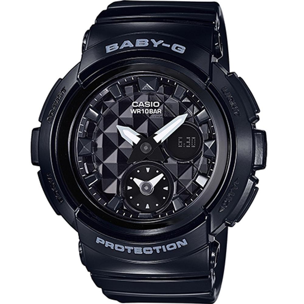 BABY-G 街頭時尚運動錶(BGA-195-1A)-黑/44.3mm
