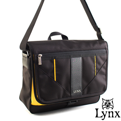 Lynx - 山貓科技概念系列側背式書包-耶魯黃