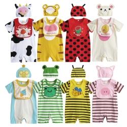 baby童衣 可愛動物連身衣三件套 套裝 31271