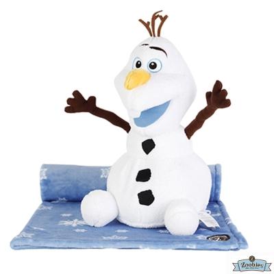 Zoobies 迪士尼Disney 冰雪奇緣款 玩偶抱毯/嬰兒毯/毛毯 彌月禮盒
