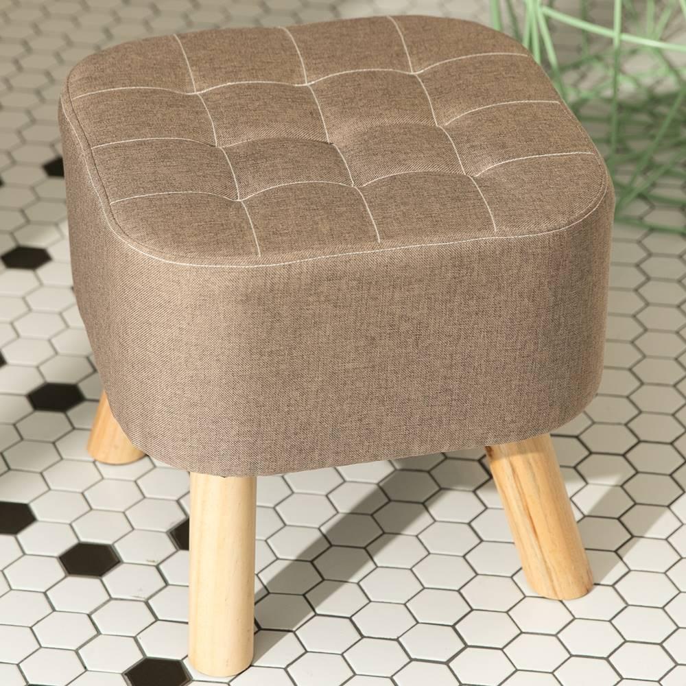 IDEA-日式方形實木椅凳