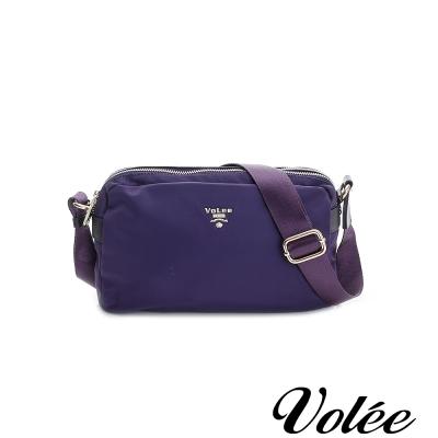 Volee飛行包 - 旅行日記雙拉鍊側背包 法國紫