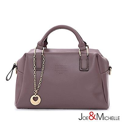 J&M 真皮奧蘿菈美型吊飾包 浪漫紫