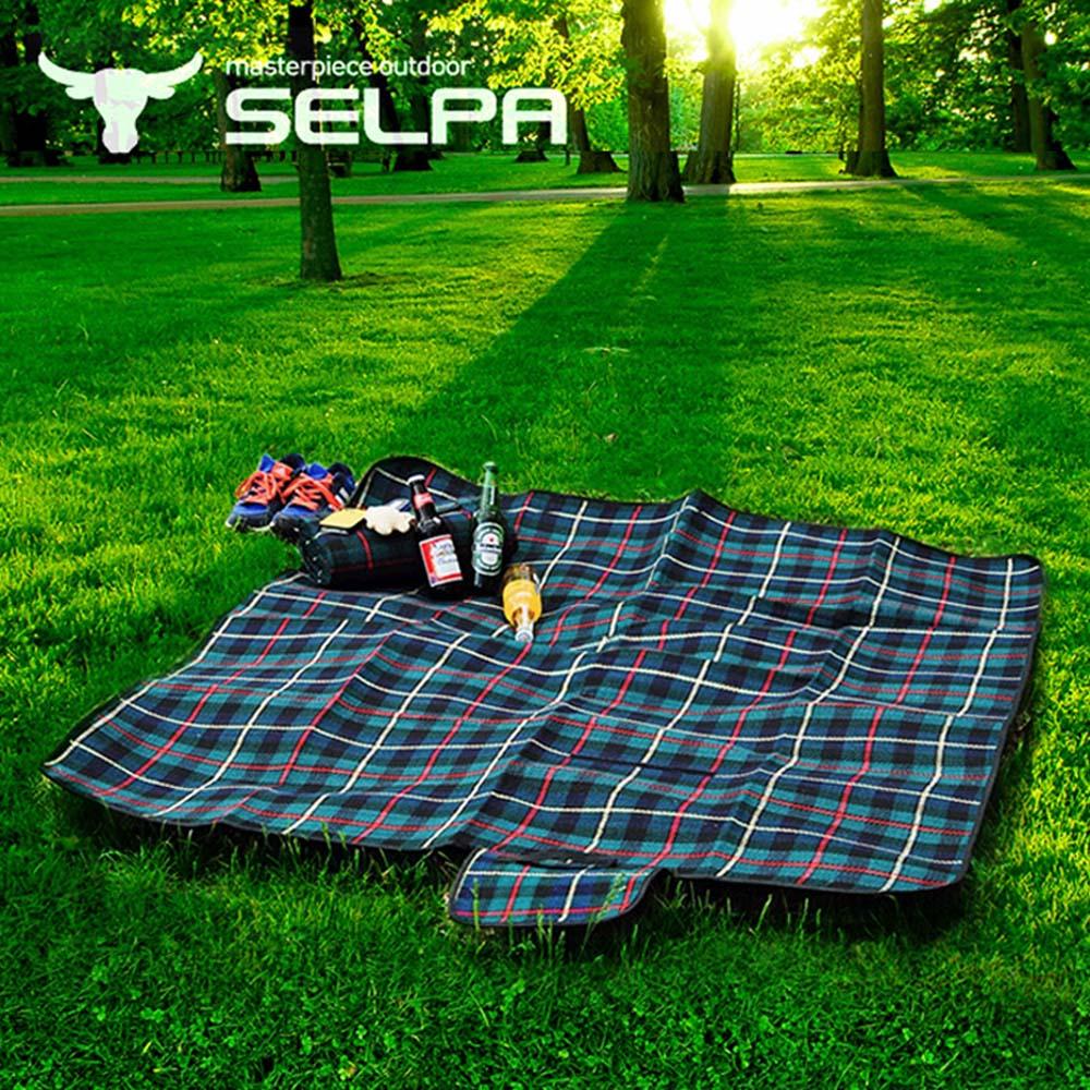 韓國SELPA 戶外防水處理絨毛野餐墊 大型 寶寶爬行墊 地墊 地布