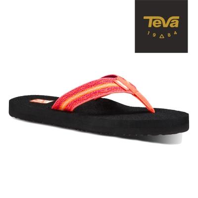 TEVA 美國-女 Mush II 經典織帶夾腳拖鞋 (珊瑚紫)