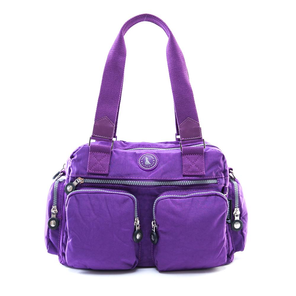 冰山袋鼠 - 熱銷人氣款多口袋2用式保齡球包-新紫