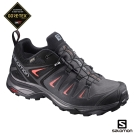 Salomon 登山鞋 低筒 GORETEX 防水 女 X ULTRA 3 黑紅