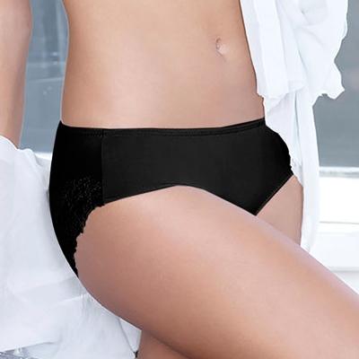 黛安芬-逆齡Bra纖體蕾絲系列內衣M-EL中腰內褲(歌德黑)