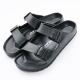 Roadpacer-男雙釦環休閒拖鞋-黑 product thumbnail 1
