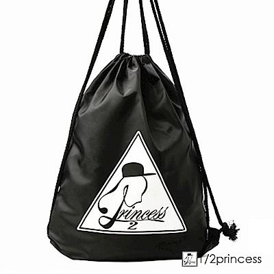 1/2princess第二代品牌標誌防潑水束口袋 後背包[SK12]