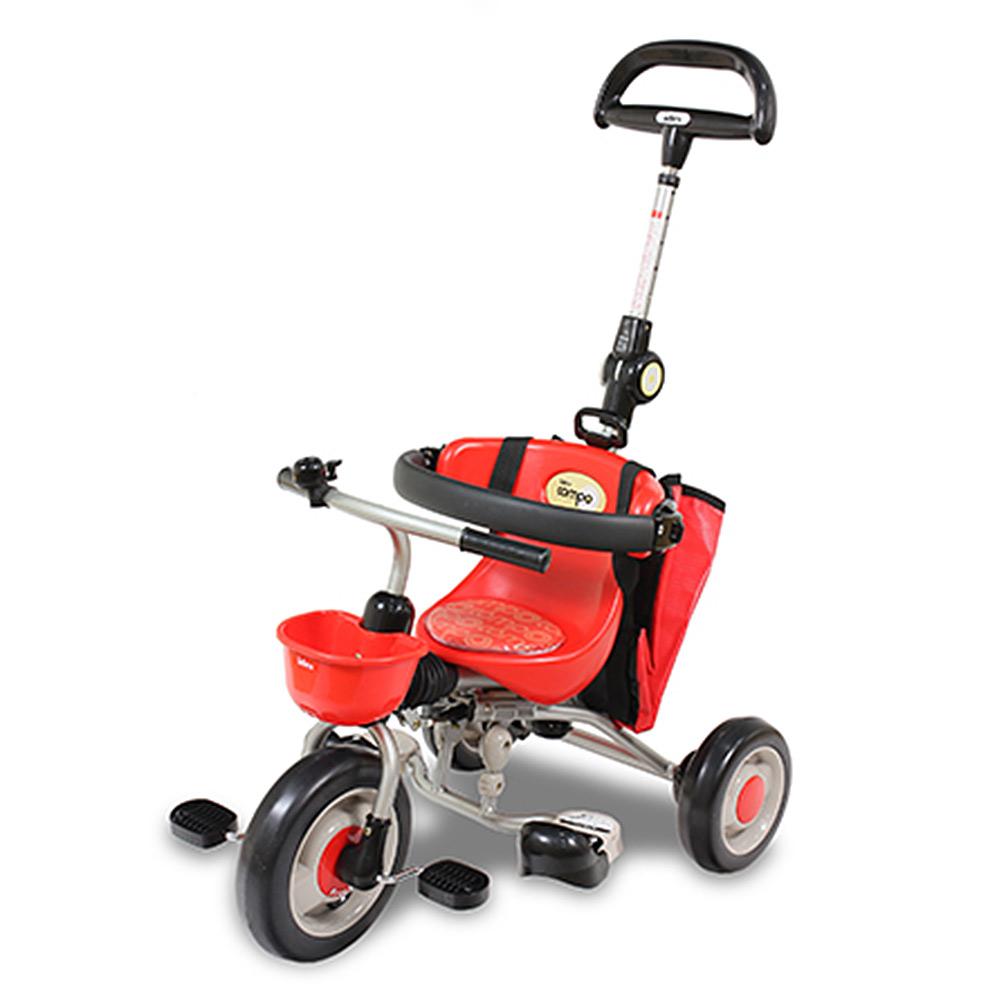 IDES 第3代新寶寶摺疊三輪背包車 紅