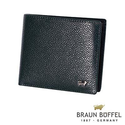 BRAUN BUFFEL - CHUCHO丘喬系列10卡皮夾 - 深藍色