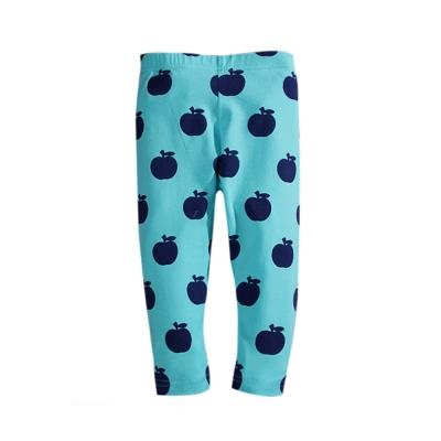 歐美風 女童純棉內搭打底褲-蘋果