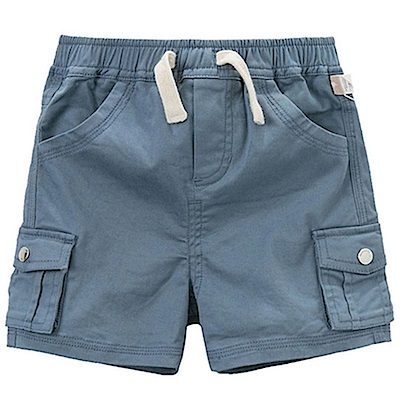 Dave Bella 深藍鬆緊綁帶短褲