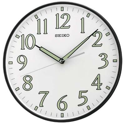 SEIKO 精工 夜光 恒動式秒針靜音掛鐘~白 29.5cm