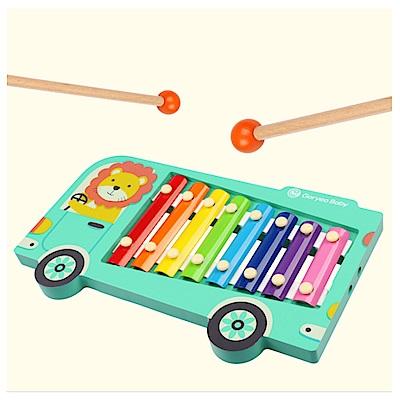 (經典木玩)木製歡樂巴士敲琴玩具(2Y+)