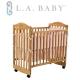 【美國 L.A. Baby】蒙特維爾嬰兒床-超值優惠組合(嬰兒床+粉色純棉五件式寢具組 product thumbnail 1