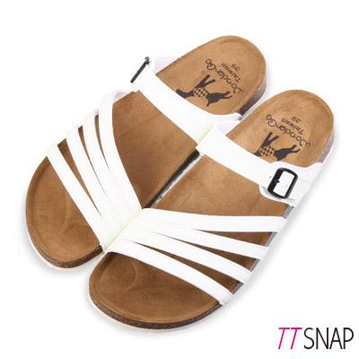TTSNAP涼拖鞋-MIT蜻蜓翅膀休閒涼拖鞋 白