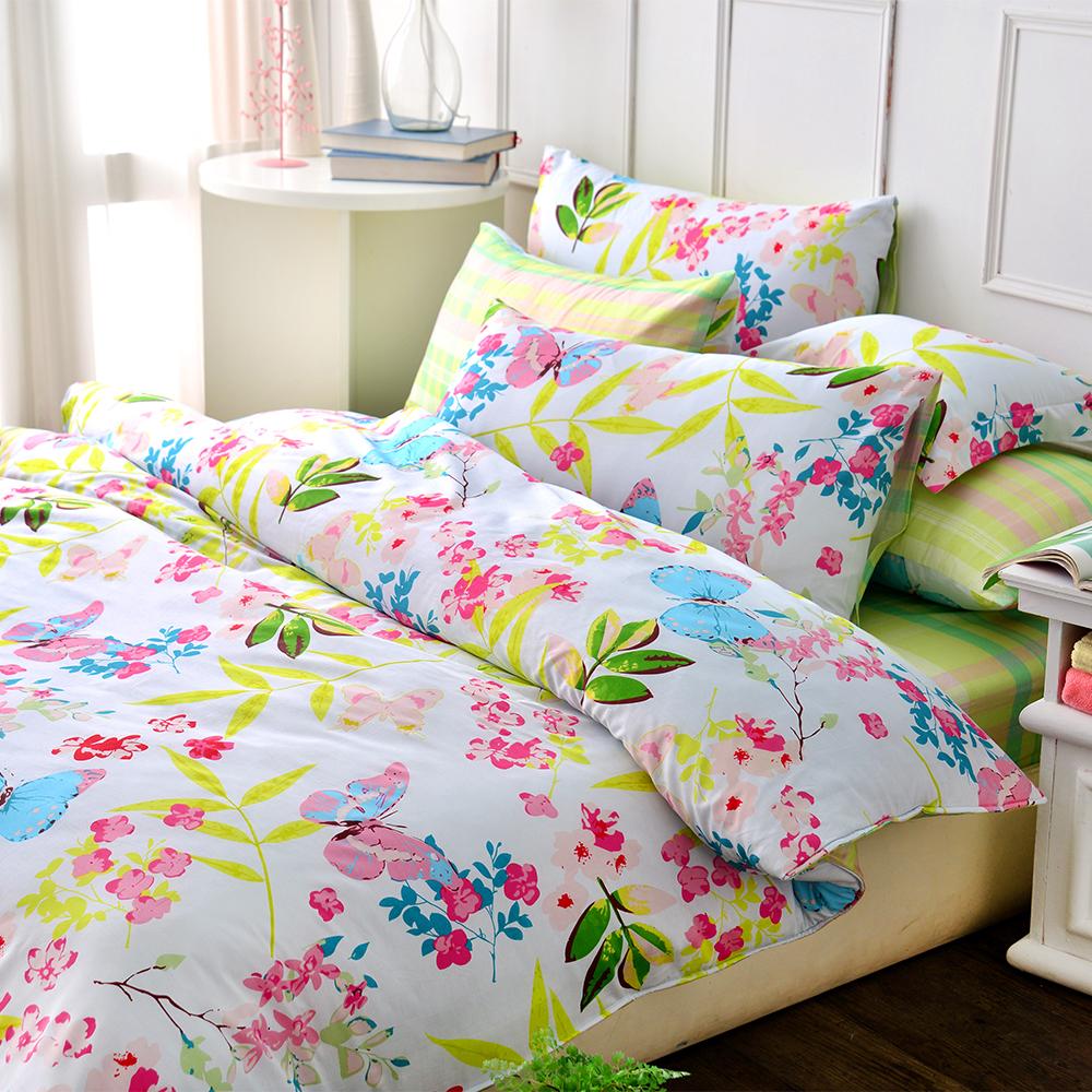(活動)GL  清新花園 精梳純棉加大兩用被床包四件組