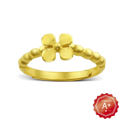 A+黃金 點點花 黃金開運尾戒