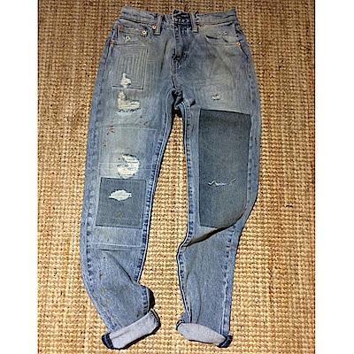 Levis 男款 上寬下窄 512Taper低腰修身牛仔長褲 破壞 彈性布