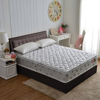MG正四線-乳膠竹碳紗護邊蜂巢獨立筒床組-雙人5尺
