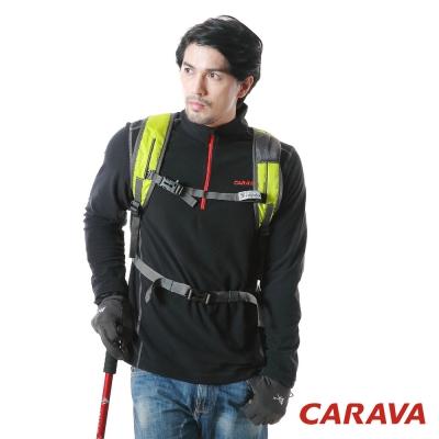 CARAVA登山保暖中層衣(黑色)
