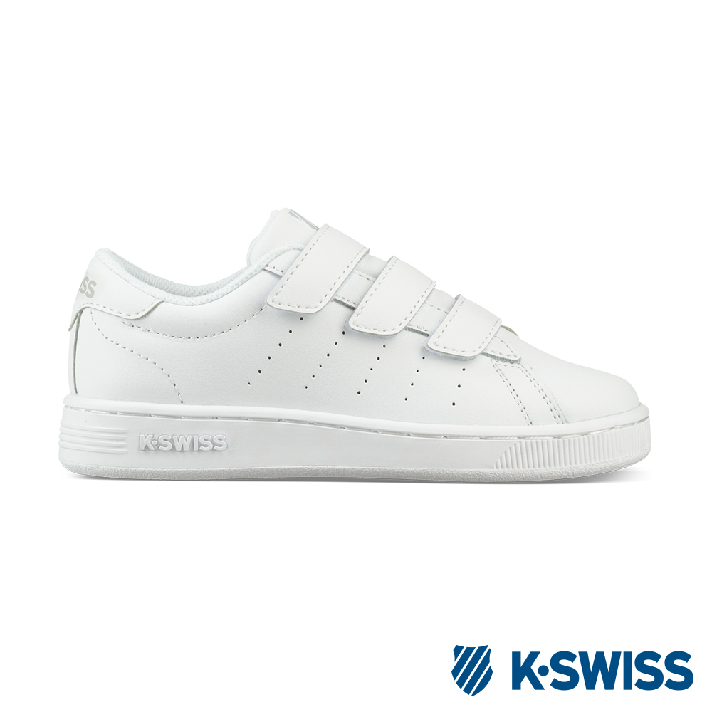 K-swiss Clean Court III Strap休閒運動鞋-童-白